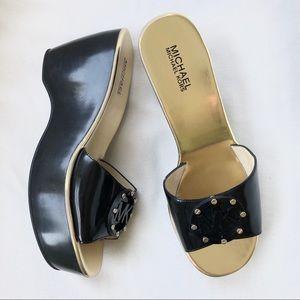 NWOB Michael Kors Platform Wedge Sandals Slides